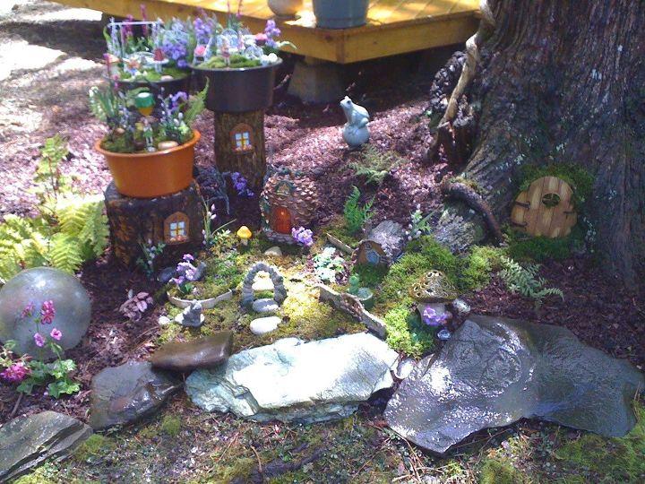 my fairy garden at the beach, gardening