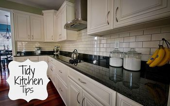 tidy kitchen tips, cleaning tips, kitchen design, organizing