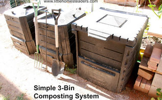 using a 3 bin composting system for maximum efficiency, composting, gardening, go green, homesteading