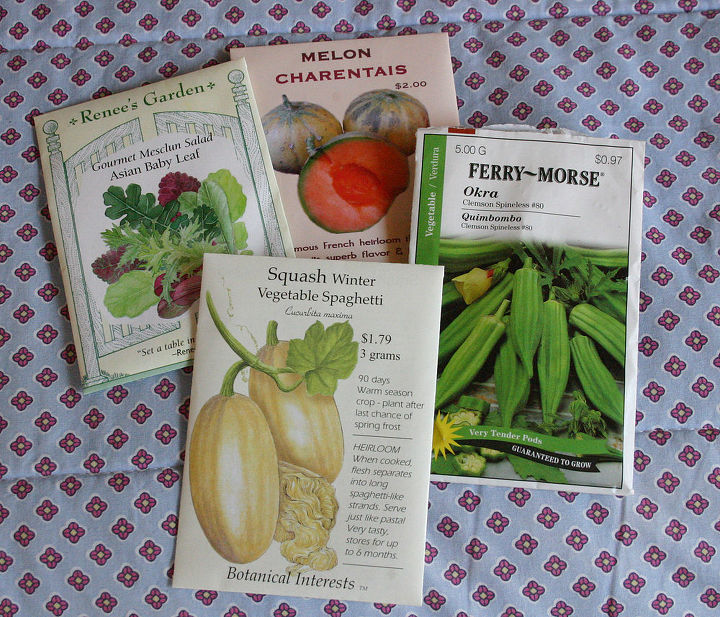 vegetable seed packs