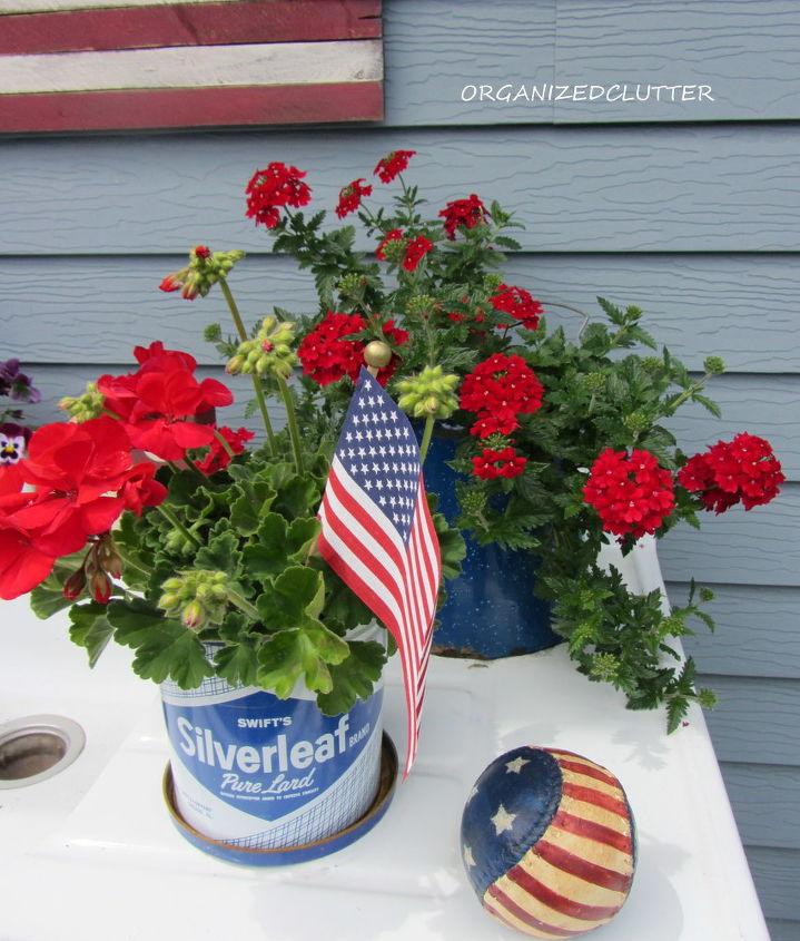 My Potting Bench Has Gone Red White Amp Blue Hometalk