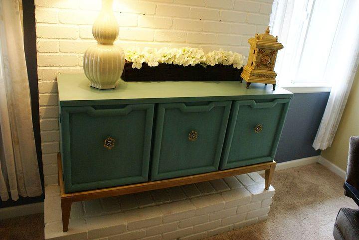 vintage cabinet redo, painted furniture