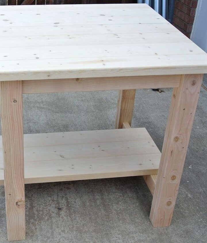 quick and inexpensive pub table, woodworking projects
