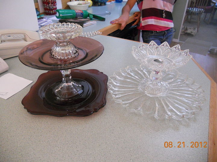 q new creations of cd disc spinners and tiers, crafts