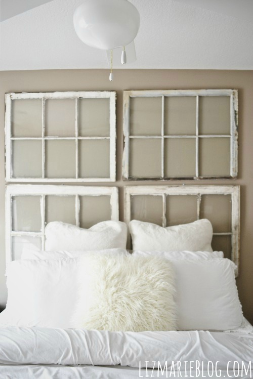 diy antique window headboard, bedroom ideas, home decor, repurposing upcycling
