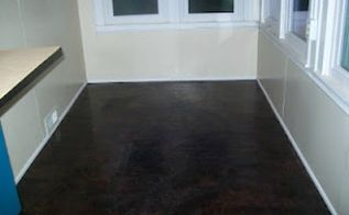 installing a paper bag floor using rit dye, diy, flooring, how to, The finished paper bag floor colored with RIT dye
