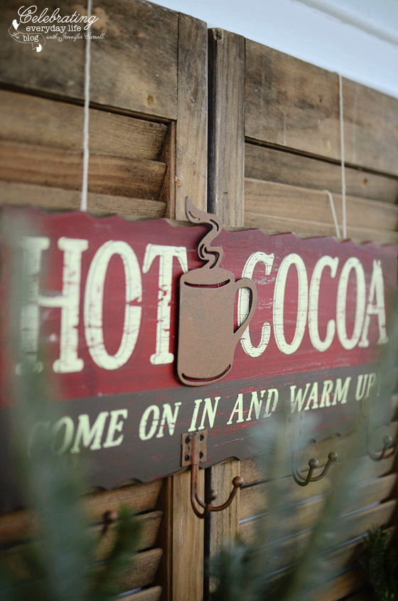Hot Cocoa sign for Front Porch Hot Cocoa Party