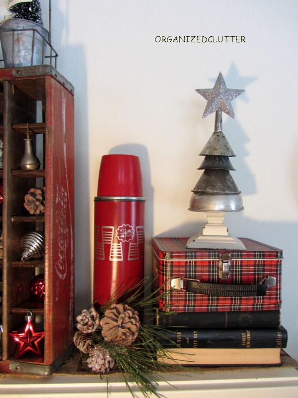 Vintage Rustic Christmas Mantel Decorations Repurposing Upcycling Seasonal Holiday Decor My