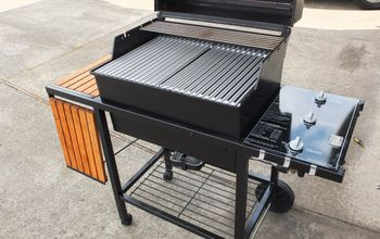 how to rehab a classic grill, outdoor living, painting, Here she is outfitted with a new grill deck