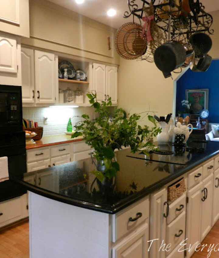 After - White Cabinets and Khaki Walls