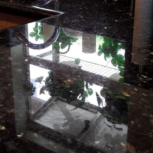 dark stone sealed with permanent sealer...check out the shine.
