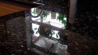 q cleaning granite countertops naturally, cleaning tips, countertops, Dark granite sealed with Granite Shield permanent sealer