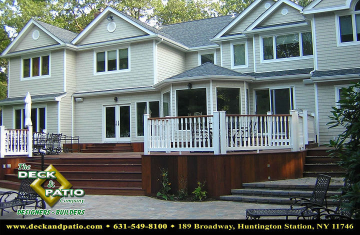 Ipe deck with white rails