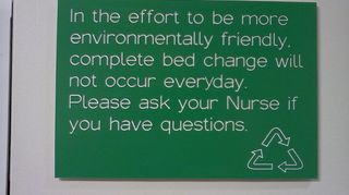 q is your hospital home green, go green, hvac, repurposing upcycling