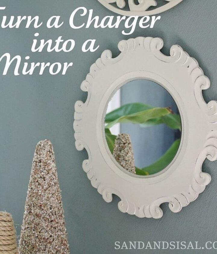 Turn a Charger into a Mirror. A fast & ultra easy craft. Make your own wall art.