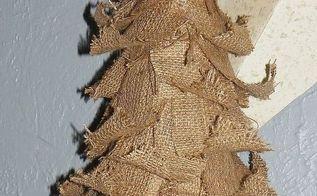 tattered burlap christmas tree, crafts, seasonal holiday decor