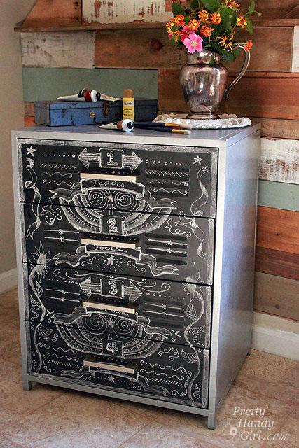 Faux Zinc Metal Cabinet Makeover Hometalk