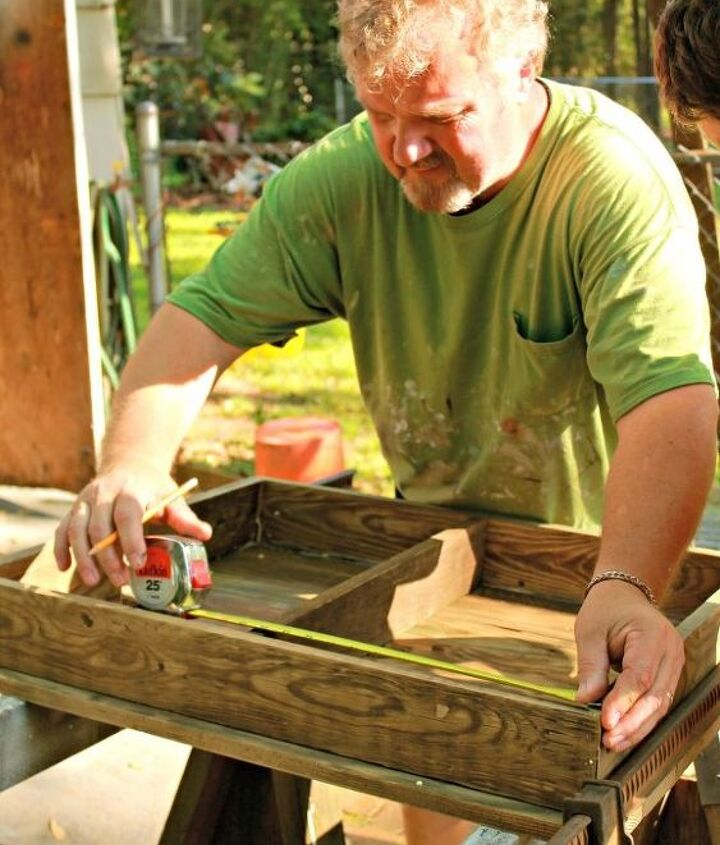 diy table made of fence posts, diy, painted furniture, repurposing upcycling, woodworking projects