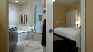 i d like inexpensive fixed louver french doors between master bedroom amp bathroom, doors