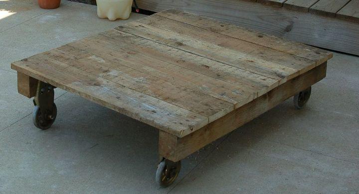 diy pallet coffee table, painted furniture, pallet