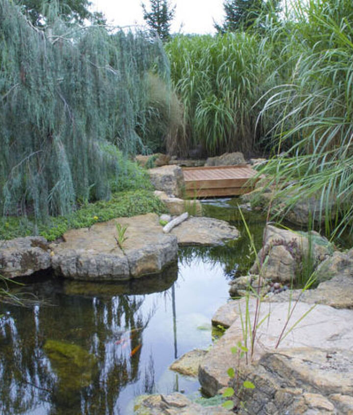 A wooden bridge invites visitors to explore further.
