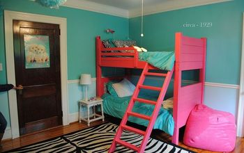 a pink a pa looza room makeover, bedroom ideas, home decor, painted furniture, Pink blue and zebra what a fun look