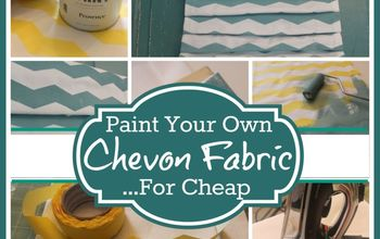 how to make your own chevron fabric any color for cheap, crafts, home decor, You can use this technique and this product to create any color of fabric you desire