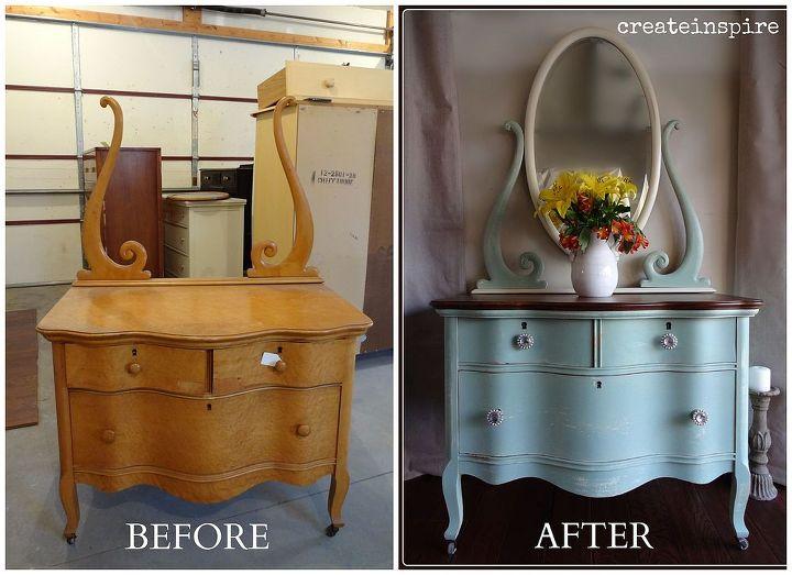 lowboy dresser makeover, painted furniture