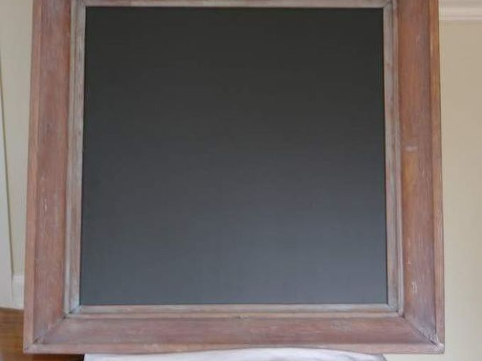 using liming wax to whitewash, chalkboard paint, painting, repurposing upcycling, Vintage wood frame repurposed into a chalkboard