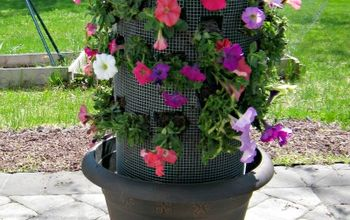How to Make a DIY Flower Tower for Your Backyard or Porch