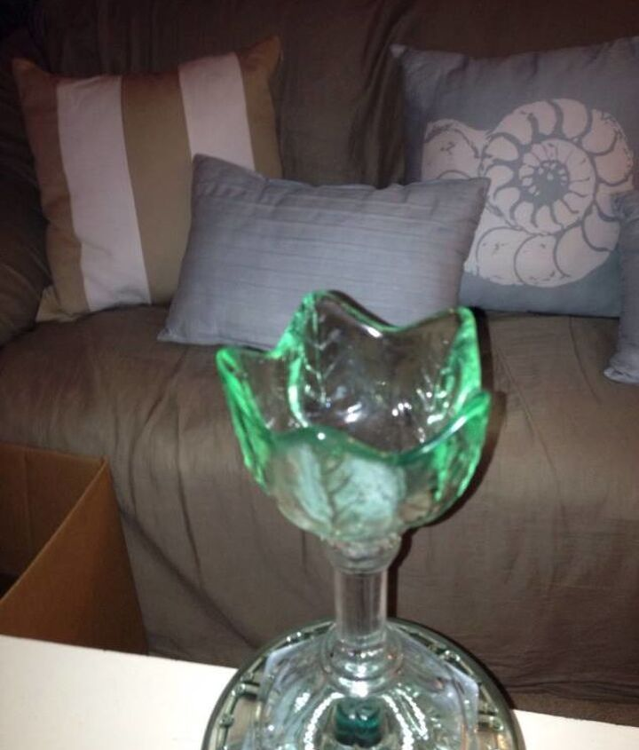 what to do with all of our crystal depression carnival glass, repurposing upcycling