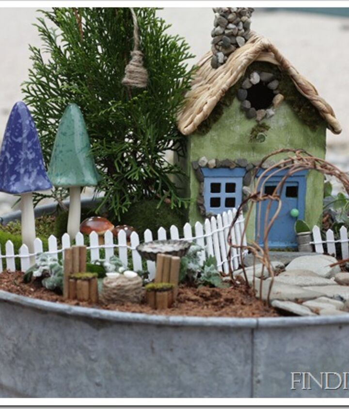 Fairy gardens can be in any size and can be customized for a thoughtful gift.