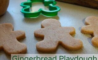gingerbread playdough diy christmas gift idea, christmas decorations, crafts, seasonal holiday decor