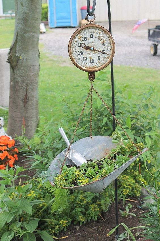 use for an old scale, gardening, repurposing upcycling