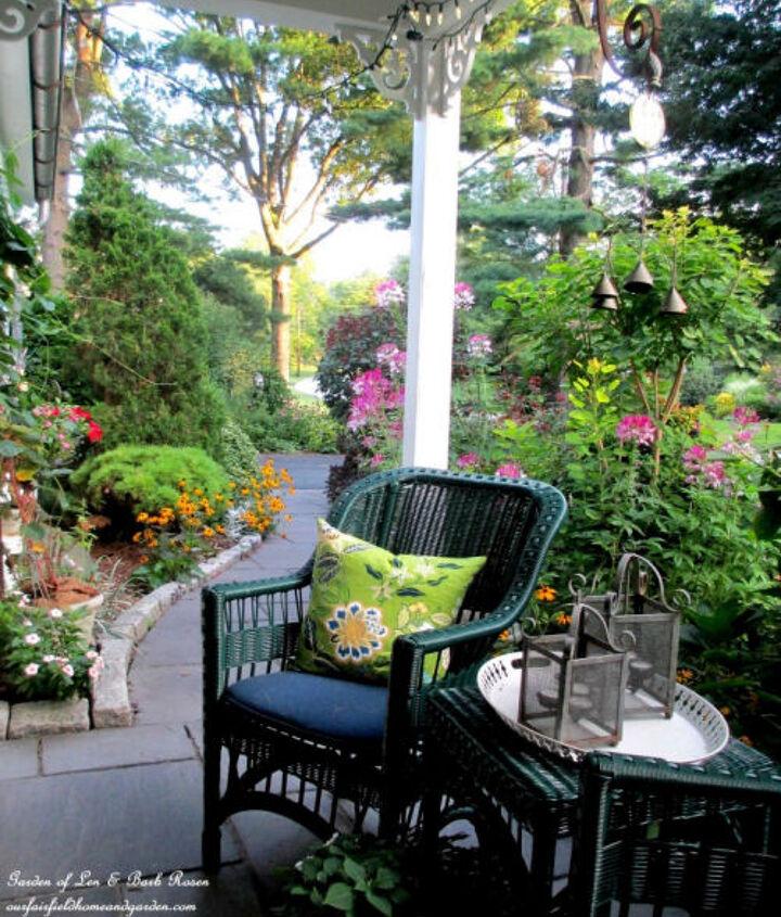 View from a patio - http://ourfairfieldhomeandgarden.com/garden-walk-my-summer-garden/