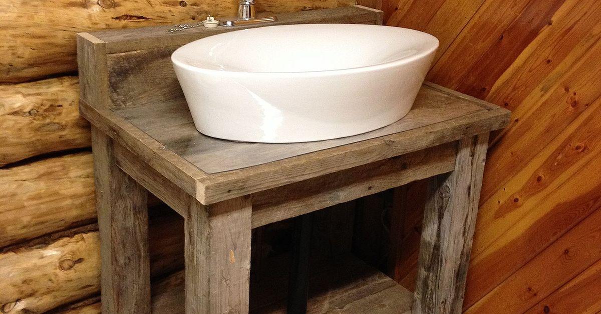 Reclaimed Wood Bathroom Vanity Hometalk - Old barn wood bathroom vanity