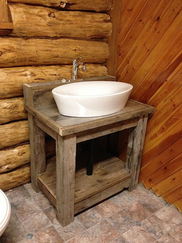 Reclaimed Wood Bathroom Vanity Hometalk - Reclaimed wood bathroom vanity for sale