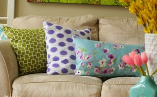 simple stunning diy envelope pillow tutorial, crafts, home decor, living room ideas, painted furniture
