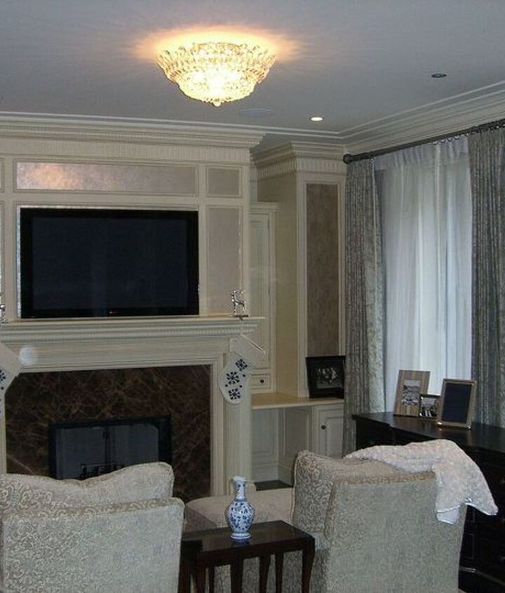 master bedroom fireplace detail