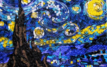 quilling as wall art, crafts, Quilled Starry Night Suzys Artsy Craftsy Sitcom quilling paper crafts wall art