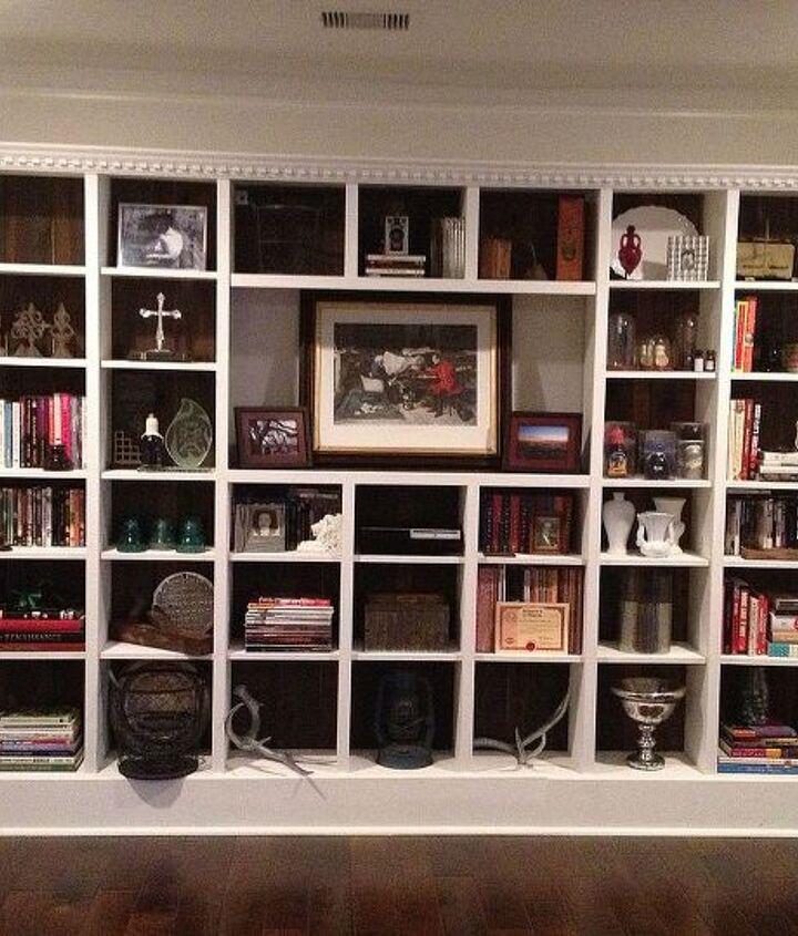 ikea billy bookcase hack, diy, painted furniture, storage ideas
