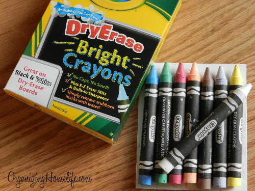 Label your leftovers with dry erase crayons