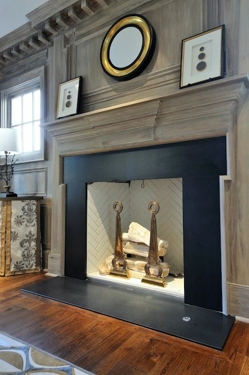 q what color should i paint our fireplace surround, fireplaces mantels, home decor, painting, This driftwood color is pretty too