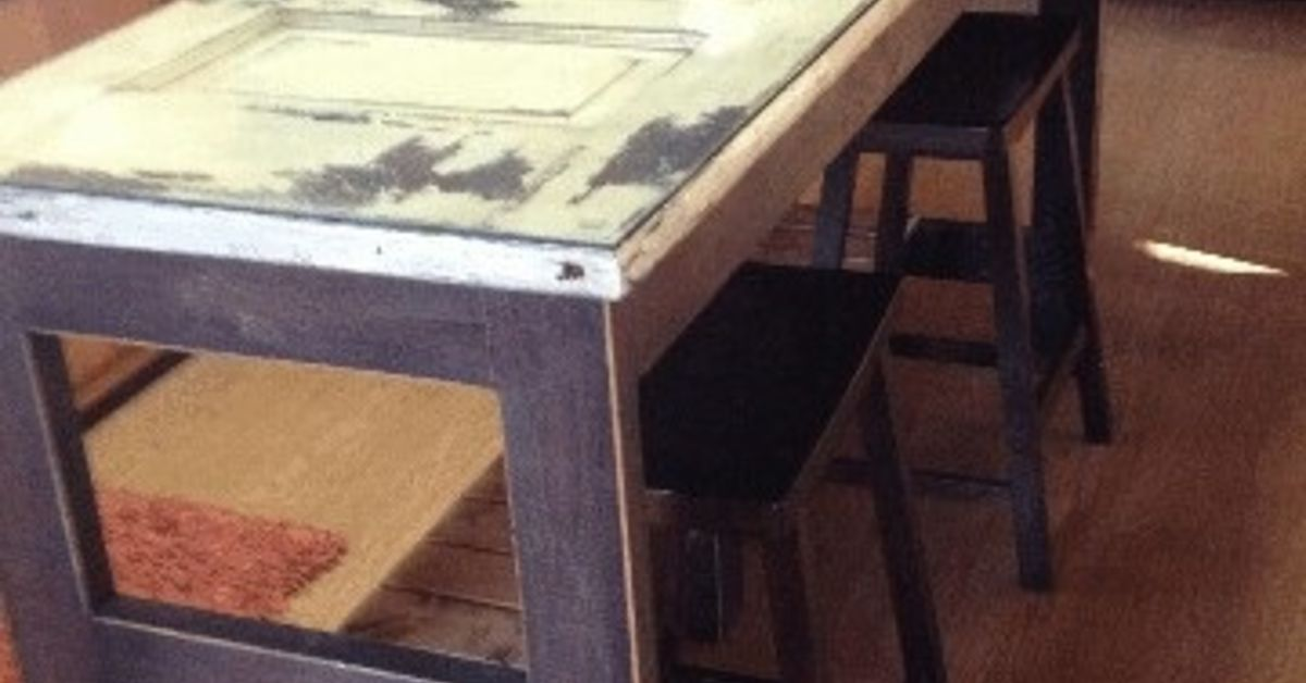 Kitchen Island Made From An Old Door Hometalk