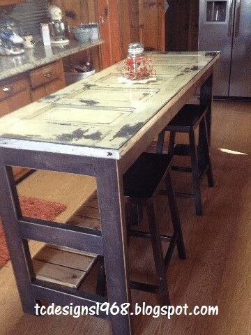 Kitchen Island Made From an Old Door....   Hometalk