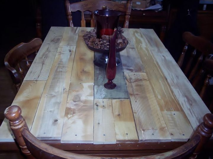 the farm table my family i made on sunday, painted furniture, rustic furniture