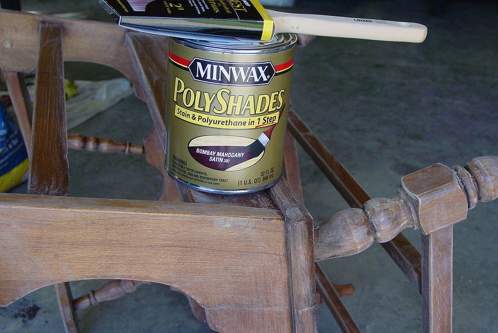 I found a MinWax stain that can be used over the original finish...with very little prep work! I chose a mahogany color to match my bedroom furniture.