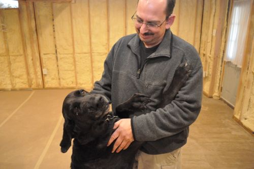 tracking mold with man s best friend, cleaning tips, pets animals, Sam is a rescue dog from Florida with over 1 000 hours of training