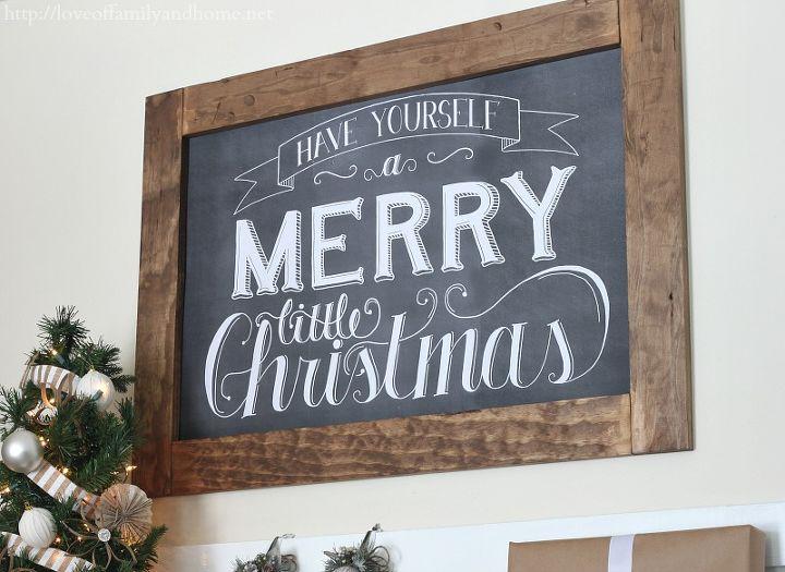 Chalkboard art via Dear Lillie. http://dearlillie.bigcartel.com/product/merry-little-christmas-24x36-chalkboard-download