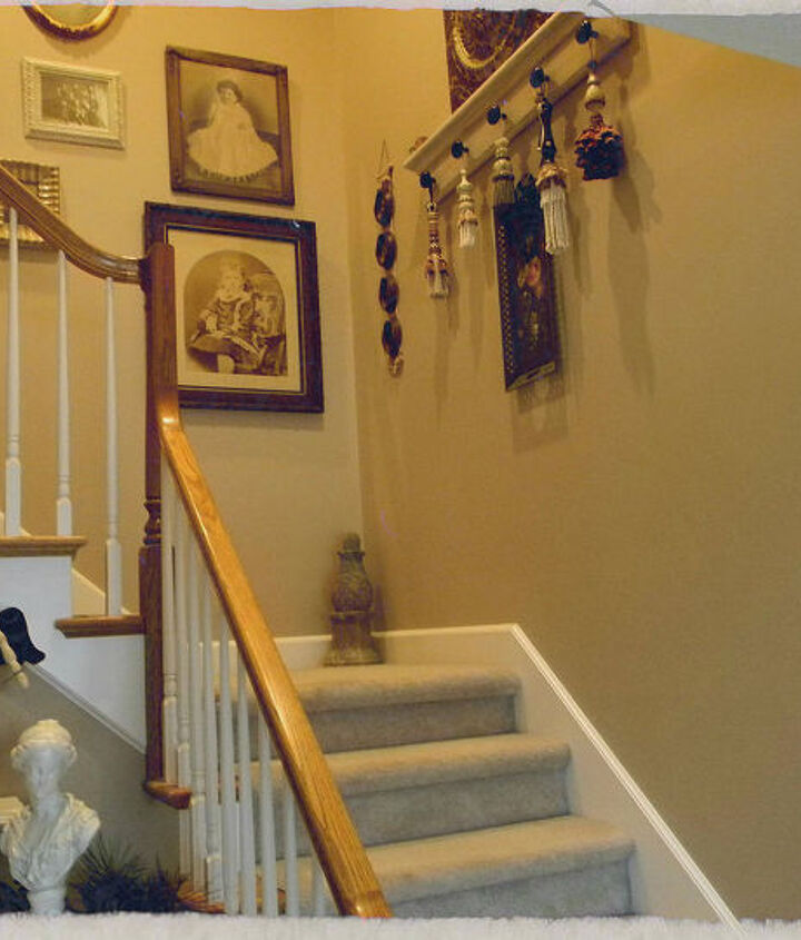 My BEFORE plain stairwell.